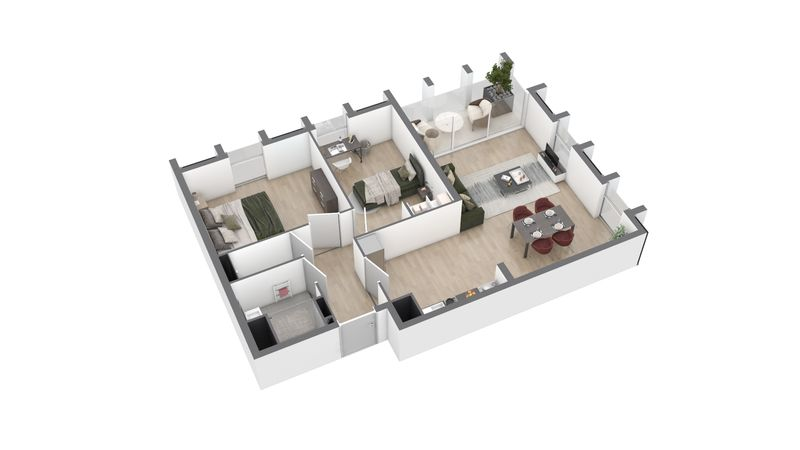 appartement A94 de type T3