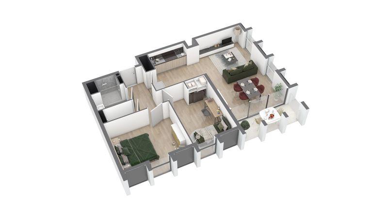 appartement A95 de type T3