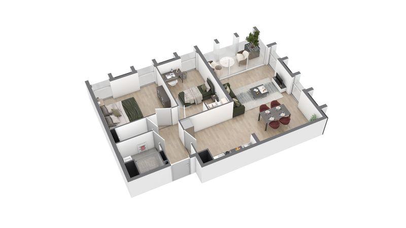 appartement A124 de type T3
