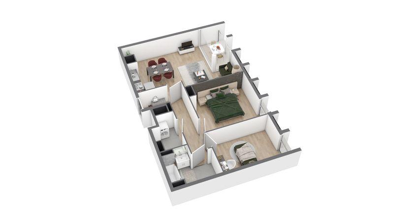 appartement B56 de type T3