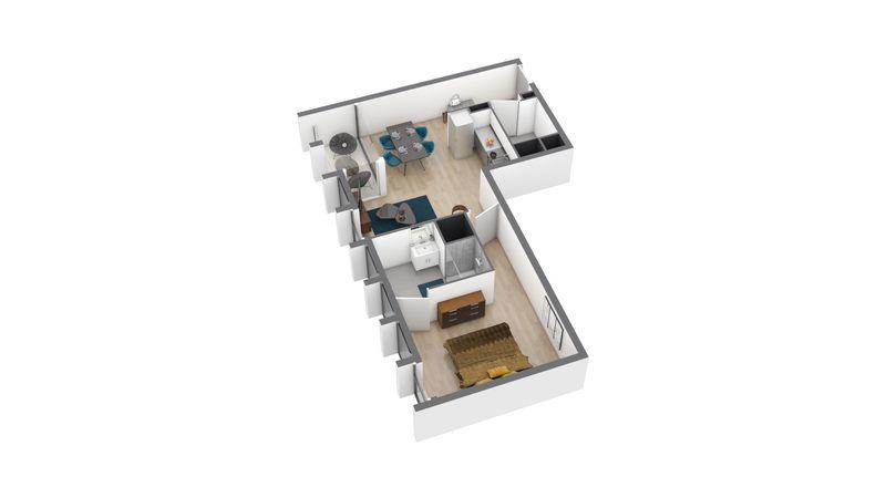appartement B91 de type T2