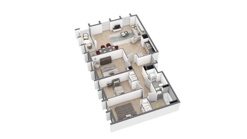 appartement B122 de type T4